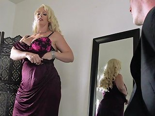 Chubby Blonde Porn Star Enjoying A Hardcore Fuck In Her Bedroom